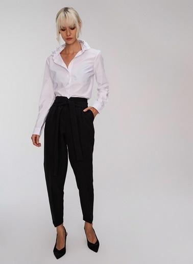 People By Fabrika Bağlama Detaylı Pantolon Siyah